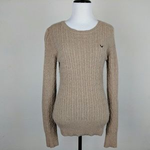 Kaisely Oatmeal Tan Angora Lambswool Sweater